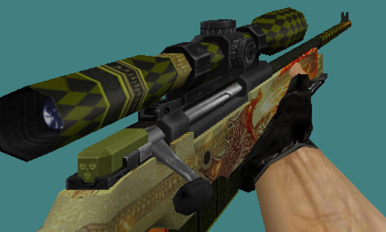 CS 1.6 Dragon Lore default skins pack