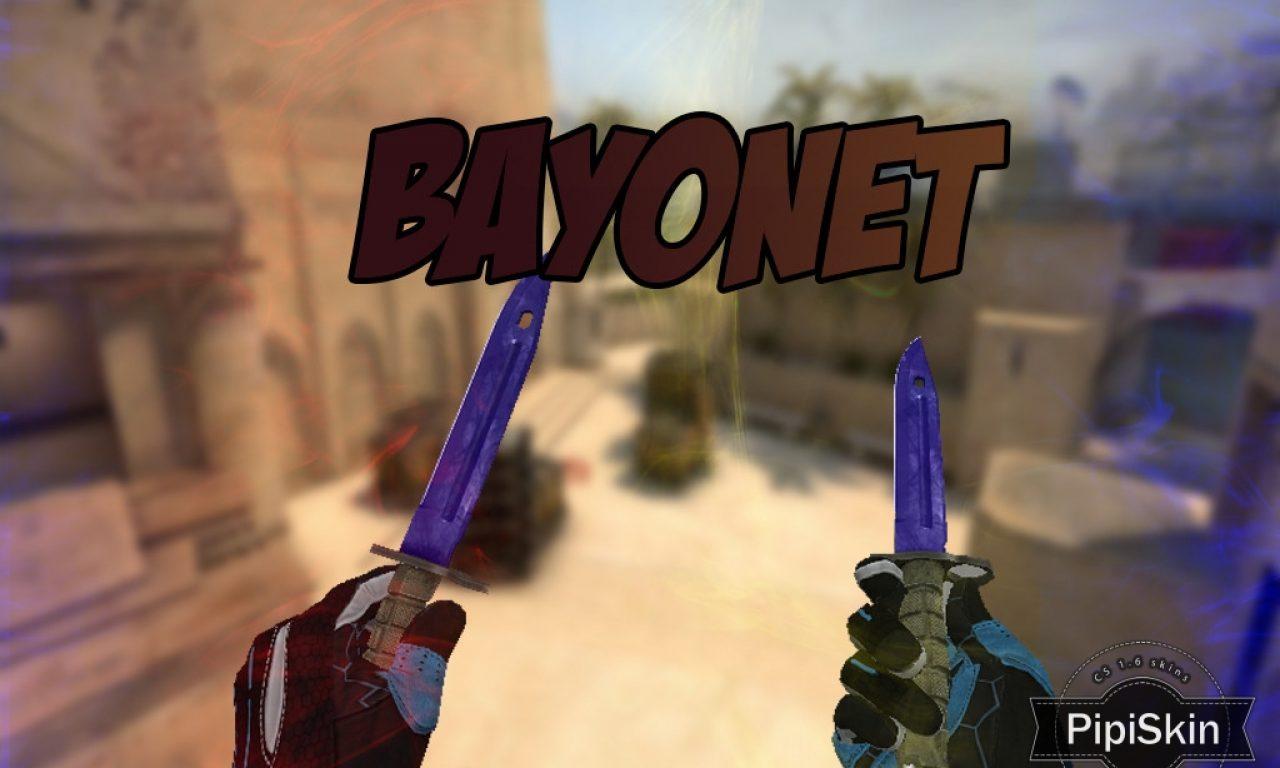 Counter Strike 1.6 CSGO Bayonet HD knife pack for CS 1.6