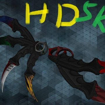 Counter Strike 1.6 CSGO Karambit HD knife pack for CS 1.6