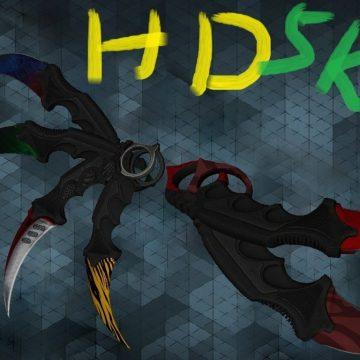 Counter Strike 1.6 CSGO Karambit HD knife pack for CS 1.6