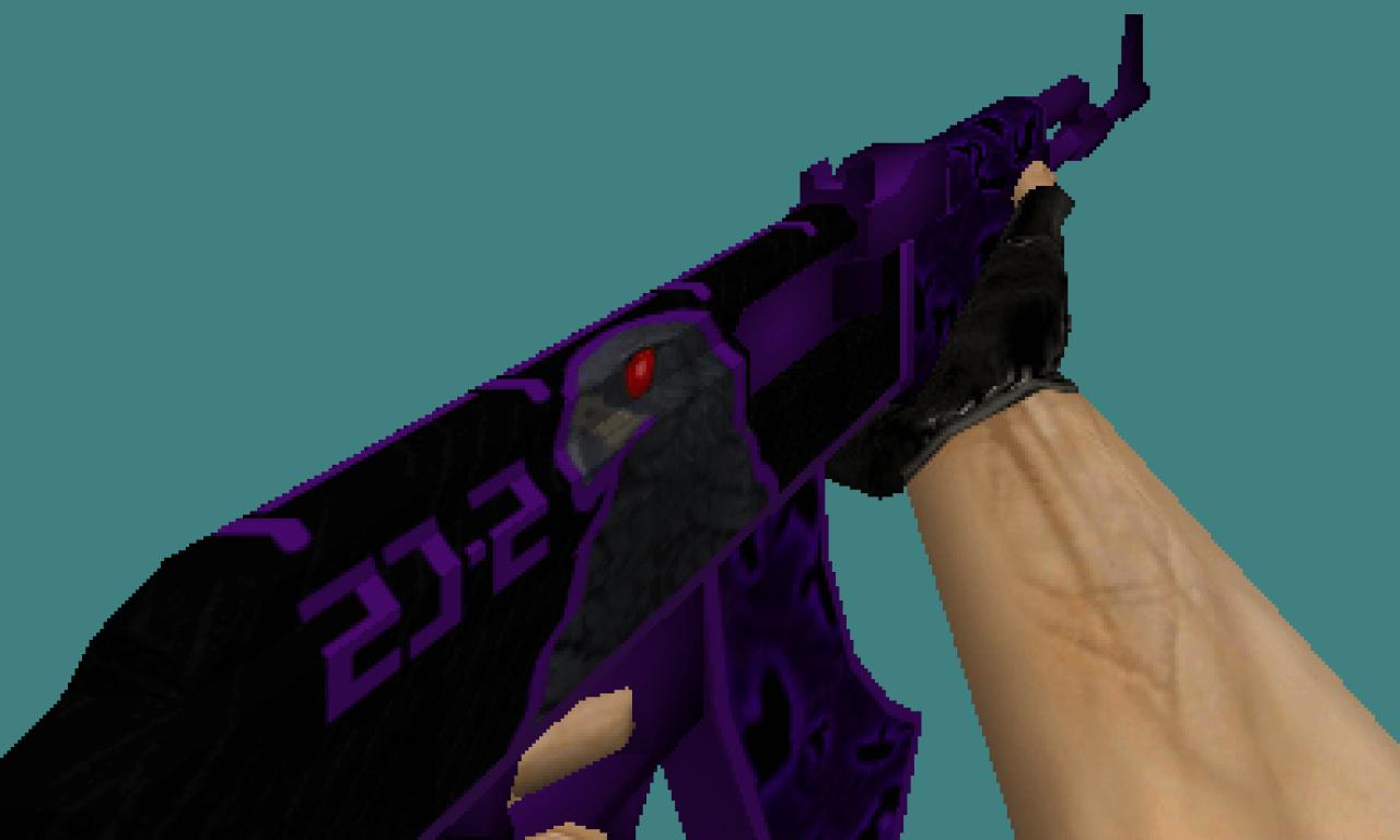 CS 1.6 weapons skins pack Violet Hawk set by Brothers