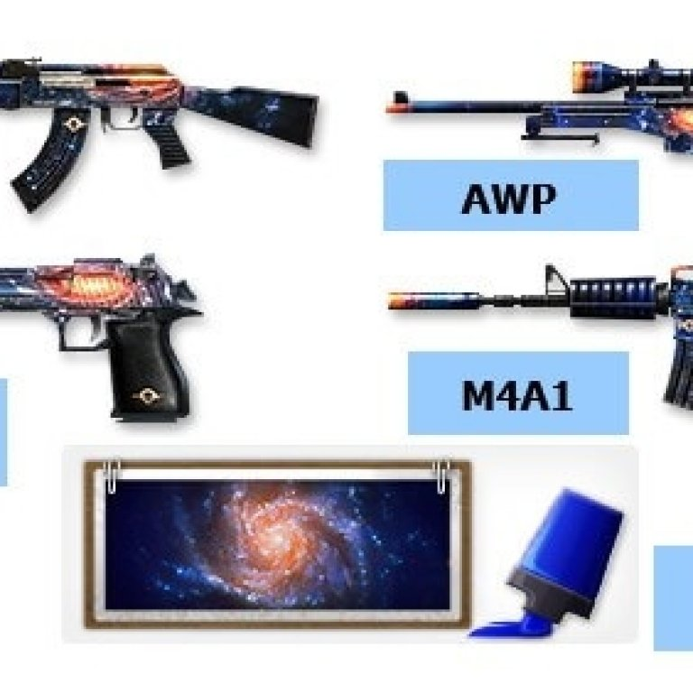 CS 1.6 weapons pack skins Galaxy
