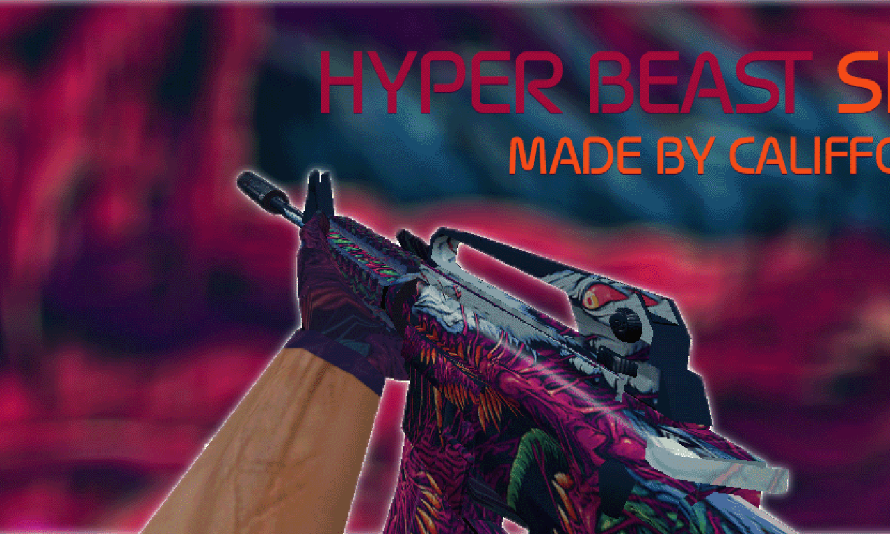 Counter Strike 1.6 Hyper Beast HD weapons packs models skins