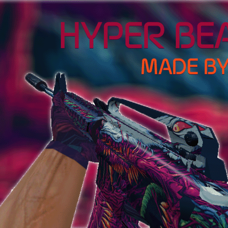 Counter Strike 1.6 Hyper Beast HD weapons packs models skins